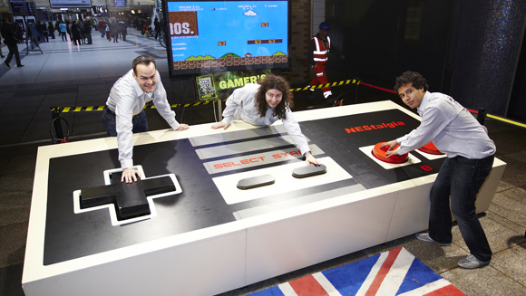 Video: World's largest video game controller touches down in London
