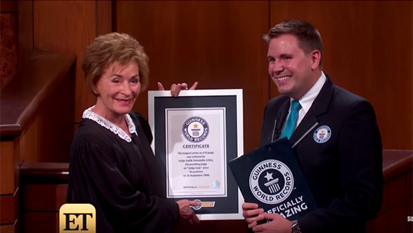TV's most famous courtroom arbiter Judge Judy sets career record