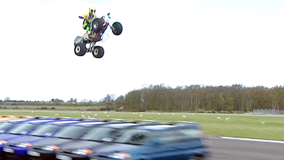Classics: Longest ramp jump on a quad bike