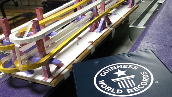 American engineering students break longest marble run record