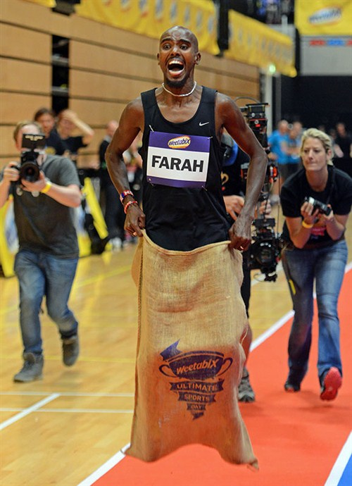 Mo -farah -sack -race -100m -guinness -world -records