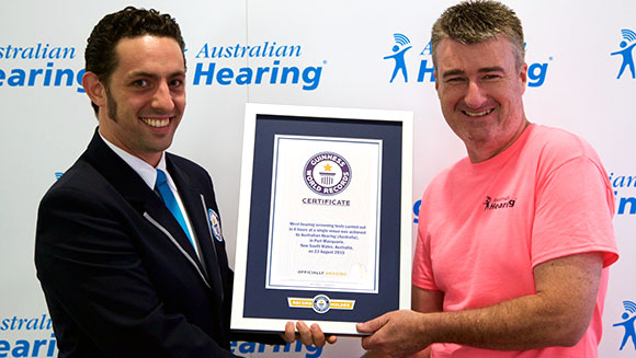Australian Hearing shatters record for most screening tests during hearing awareness week
