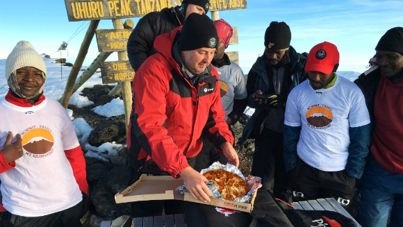 Highest altitude pizza delivery