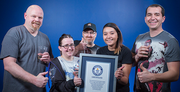 Planetside 2 Guinness World Records certificate presentation