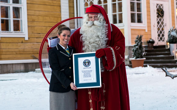 Longest wish list to Santa gets delivered in Lapland