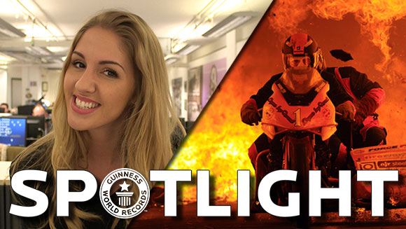 Spotlight: Longest motorcycle ride through a tunnel of fire