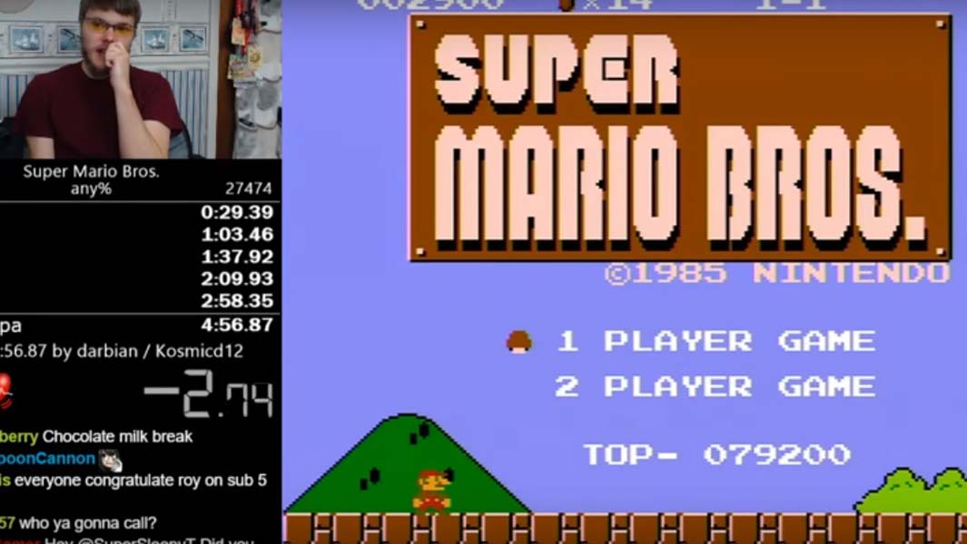 Watch this Super Mario Bros. gamer beat his own speedrun record - again