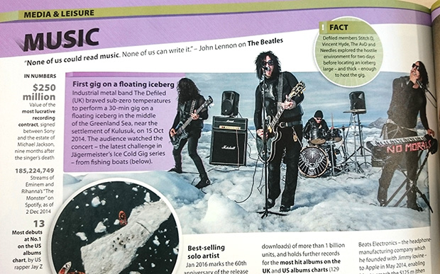 The Defiled iceberg gig record GWR 2016