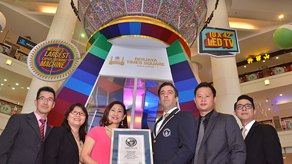 Berjaya Times Square creates world's largest Capsule Vending Machine as Malaysian mall celebrates 10th anniversary