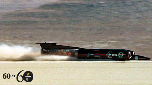 Land Speed Record >> 1997 Land Speed Record Guinness World Records