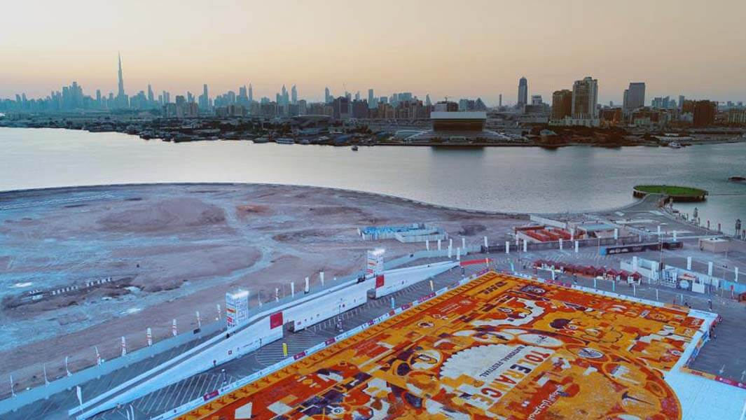 The Ministry of Tolerance in UAE achieves a record for the largest flower petal carpet