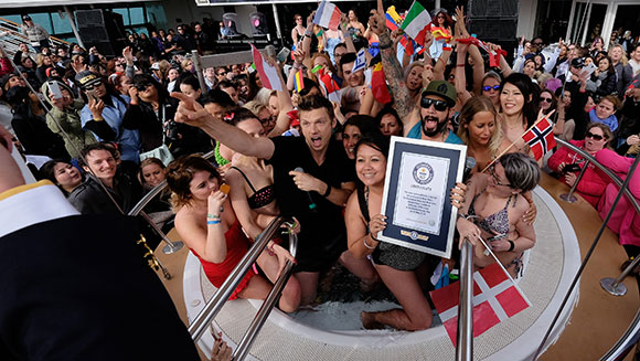 Backstreet's back with a splash... and an official Guinness World Records title