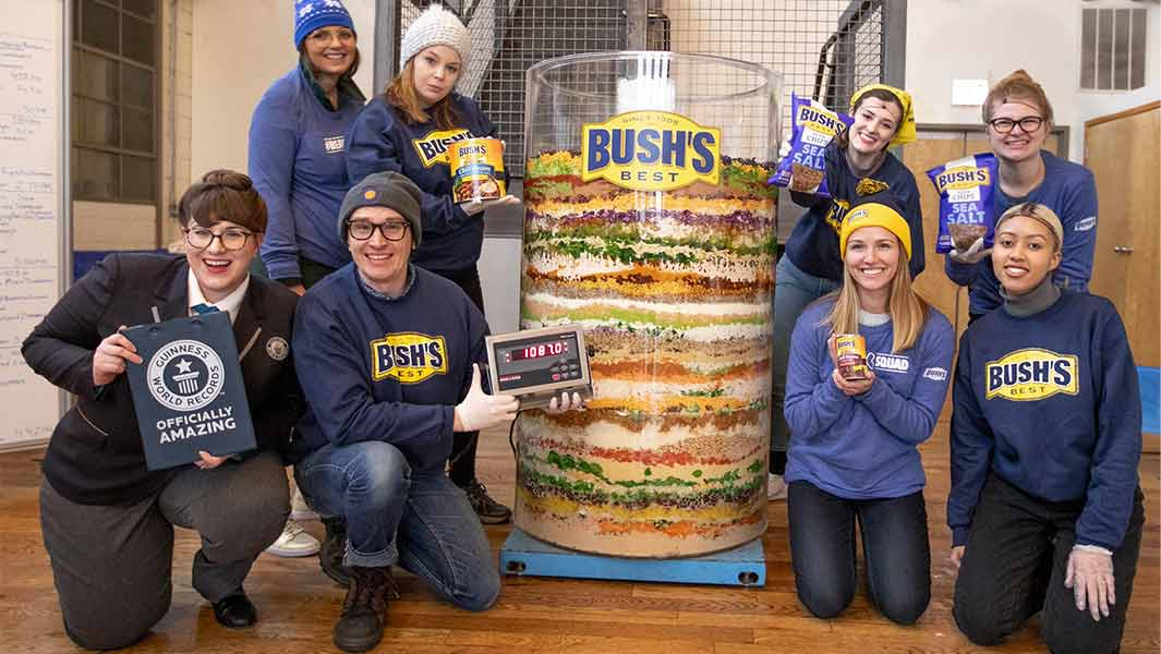 BUSH'S® Beans celebrates the big game with massive 70-layer dip