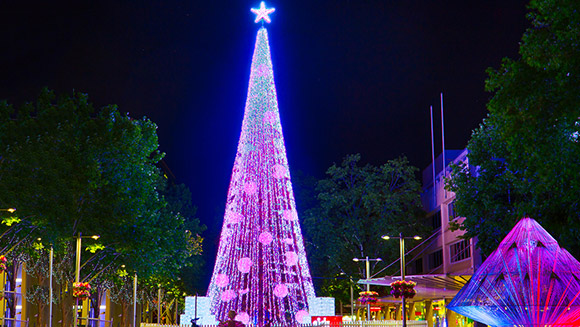 Christmas mad Aussie David Richards sets tree lights display world record