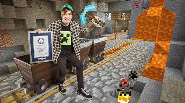 Dan TDM most views for a Minecraft video channel GWR certificate