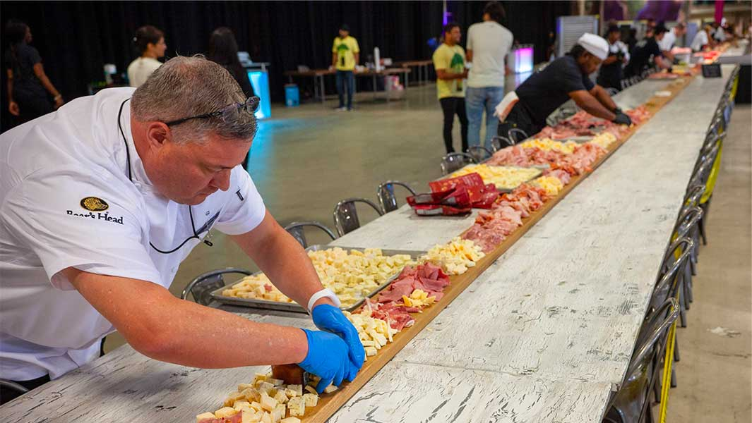Longest charcuterie board provides record-breaking meal during annual Foodscape event