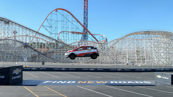 Video: Rob Dyrdek sets reverse car jump record