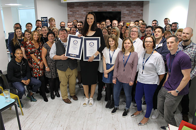 Ekaterina Lisina at the Guinness World Records HQ