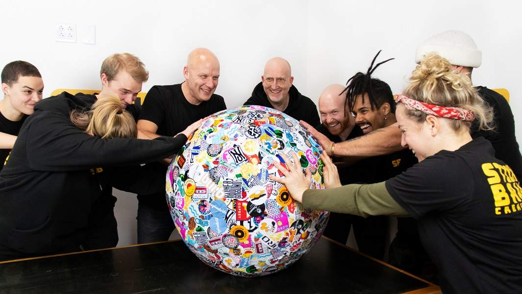 Vermont based company creates world's largest sticker ball from recycled stickers