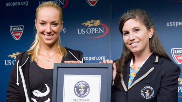Tennis star Sabine Lisicki receives Guinness World Records certificate ahead of US Open