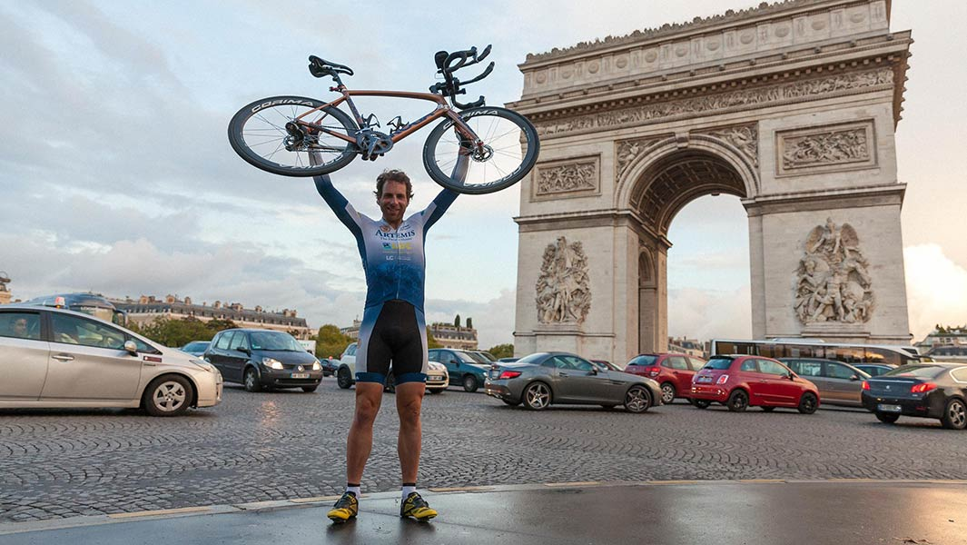 British endurance cyclist Mark Beaumont completes record-breaking circumnavigation