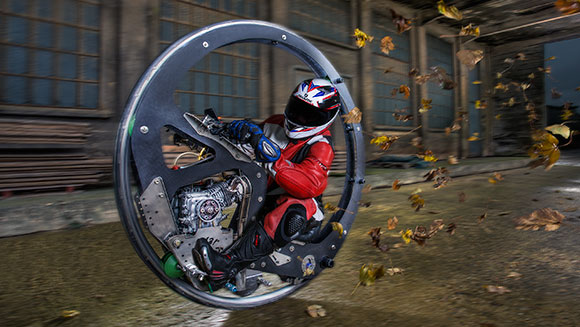 Video Fastest Monowheel Motorcycle Speeds Into Guinness