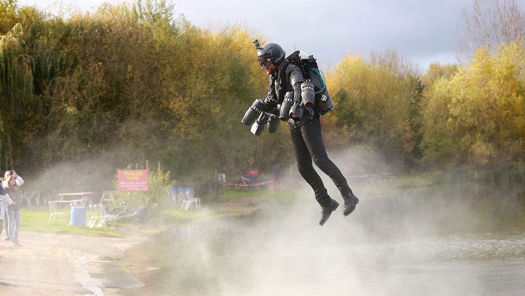 Video: Real life Iron Man sets jet suit speed record for Guinness World Records Day