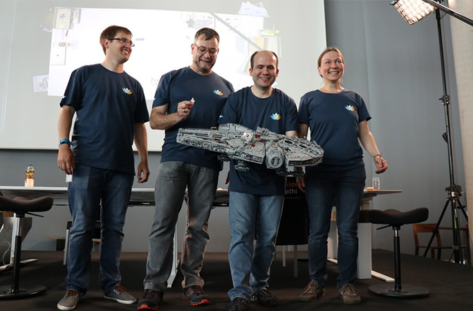 Fastest-time-to-build-the-LEGO-Star-Wars-Millennium-Falcon-team.jpg