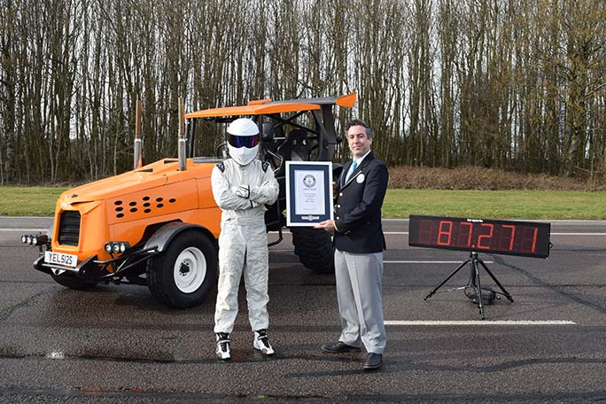 Fastest tractor certificate presentation