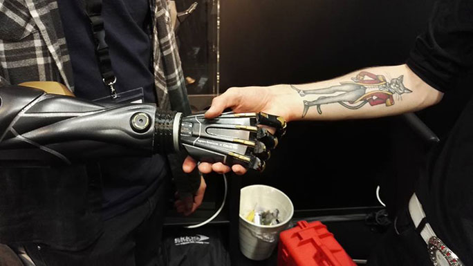 First prosthetic limb based on a videogame Jensen arm