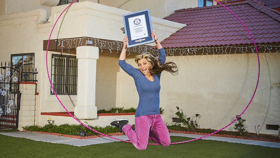 Circus performer enters Guinness World Records 2020 for spinning her enormous hula hoop