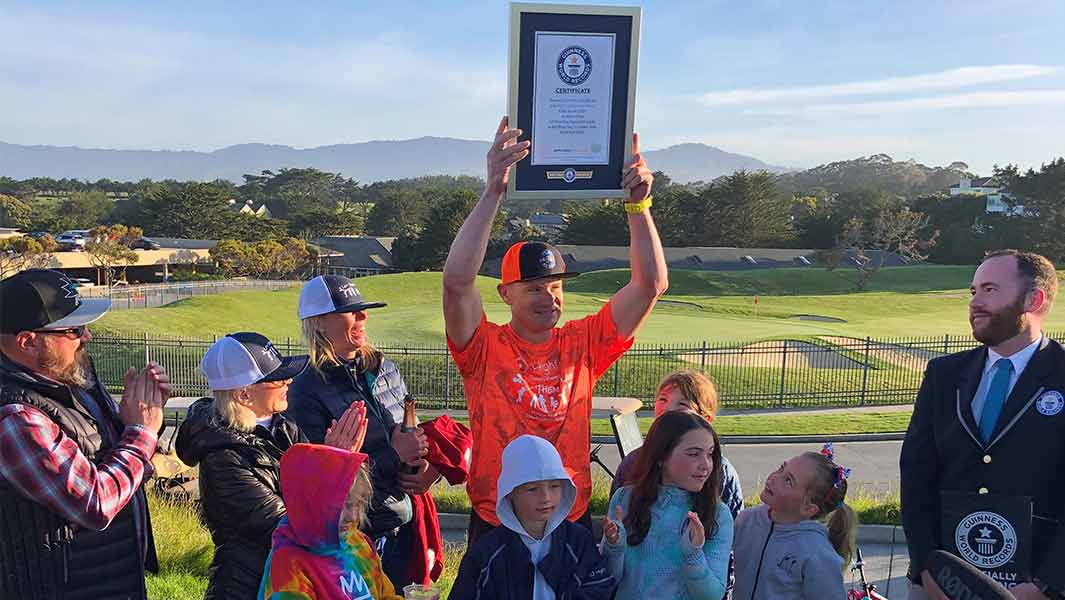 Former MLB star sets new speed golf record to benefit Let Them Play Foundation