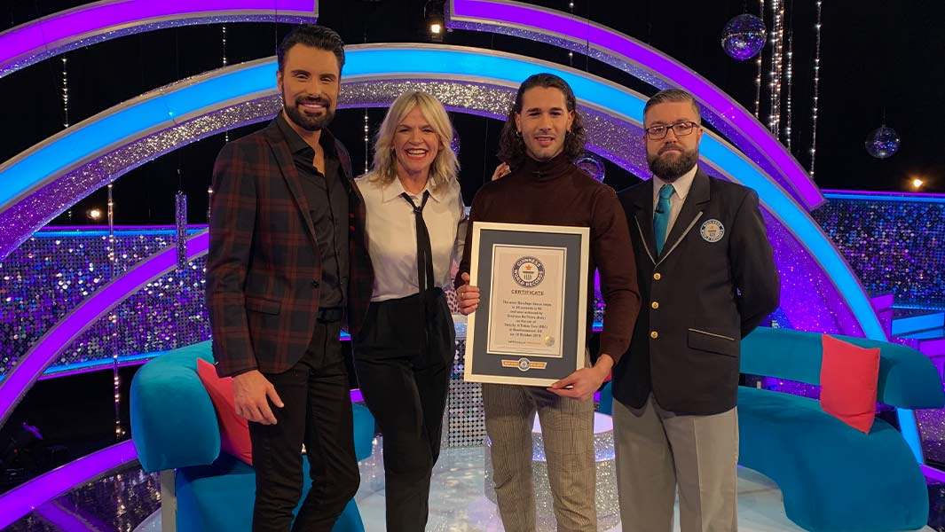Graziano Di Prima achieves Guinness World Records title on Strictly Come Dancing: It Takes Two