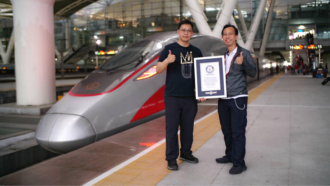 Brothers travel more than 3,000 miles around China by train in just 24 hours