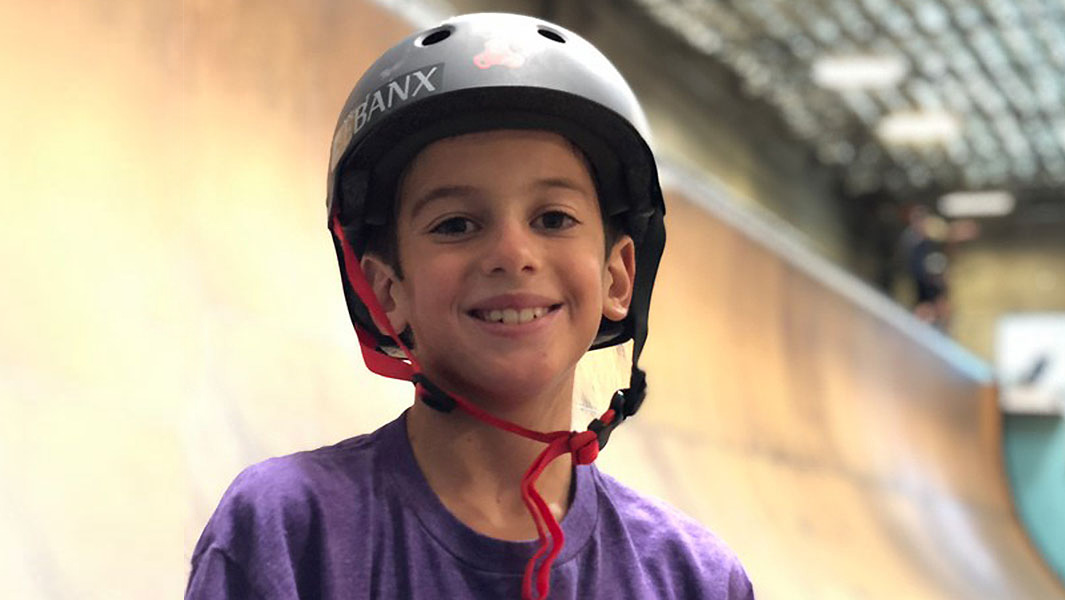 11-year-old Brazilian skateboarder lands the first ever 1080 on a vertical ramp