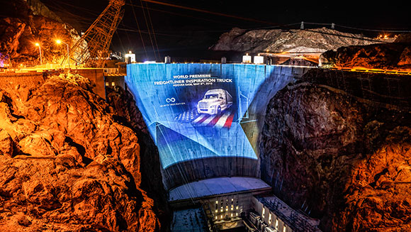 Greatest light output in a projected image - Hoover Dam 3