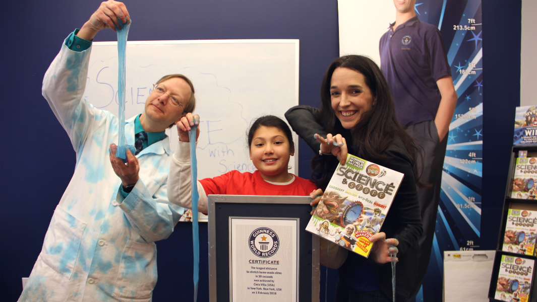 10-year-old breaks record stretching home-made slime