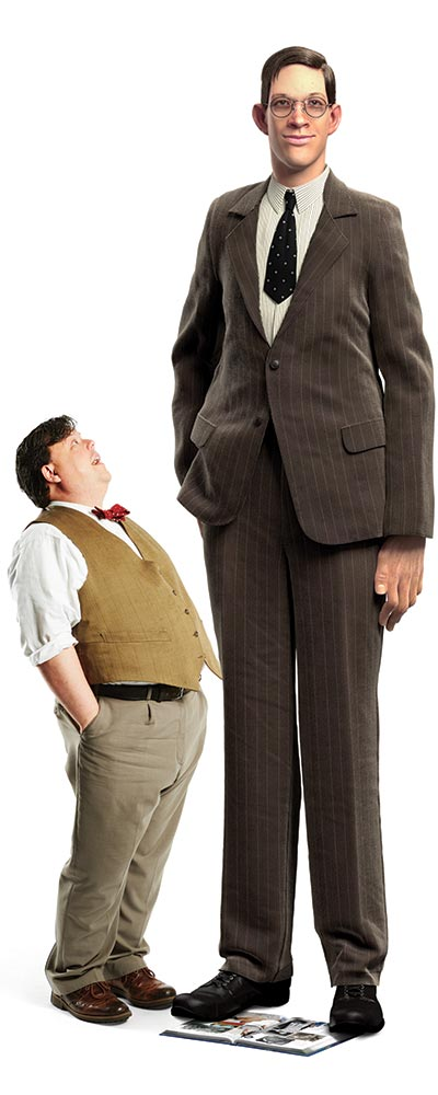 To-scale representation of GWR Editor-in-Chief Craig Glenday and tallest man ever Robert Wadlow