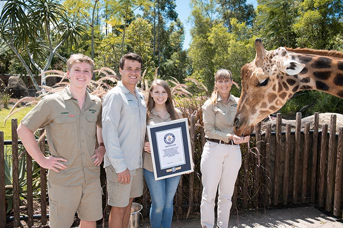 The Irwin family celebrate Forest's tall order with his official Guinness World Records certificate