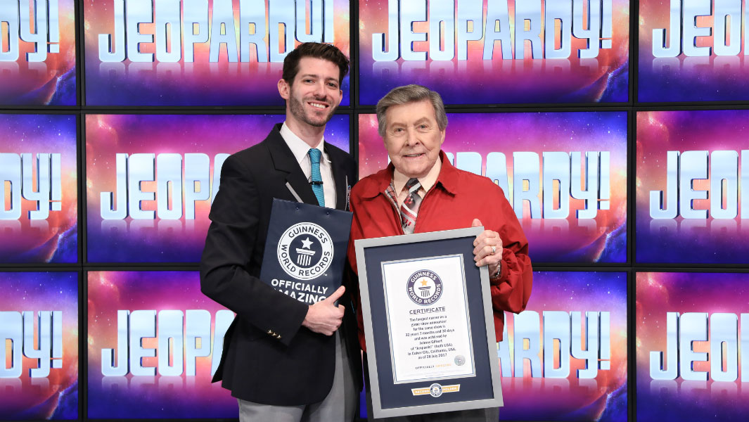 Voice of JEOPARDY! John Gilbert achieves a record for his career on the show