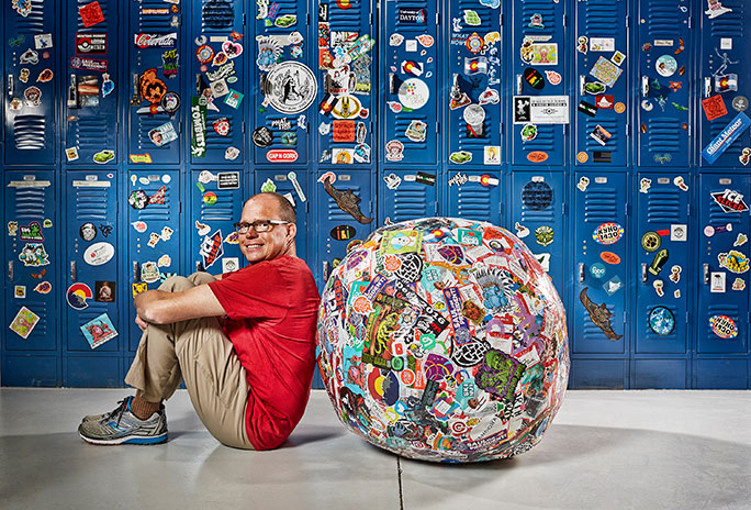 Stick together: John Fischer and the largest ball of stickers