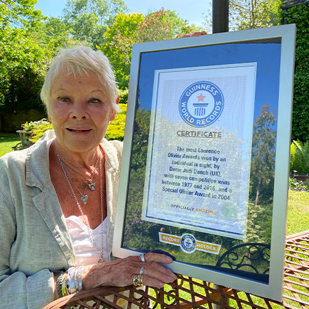 Dame Judi Dench Adds Oldest Vogue Cover Model To List Of Record Achievements Guinness World Records