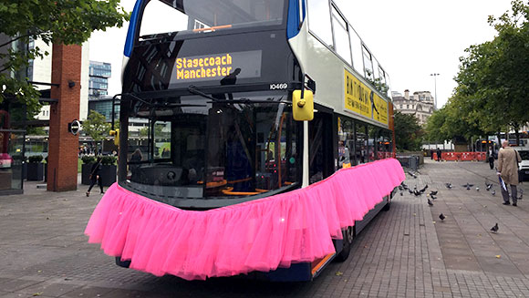 Manchester charity creates world's largest tutu for breast cancer awareness month