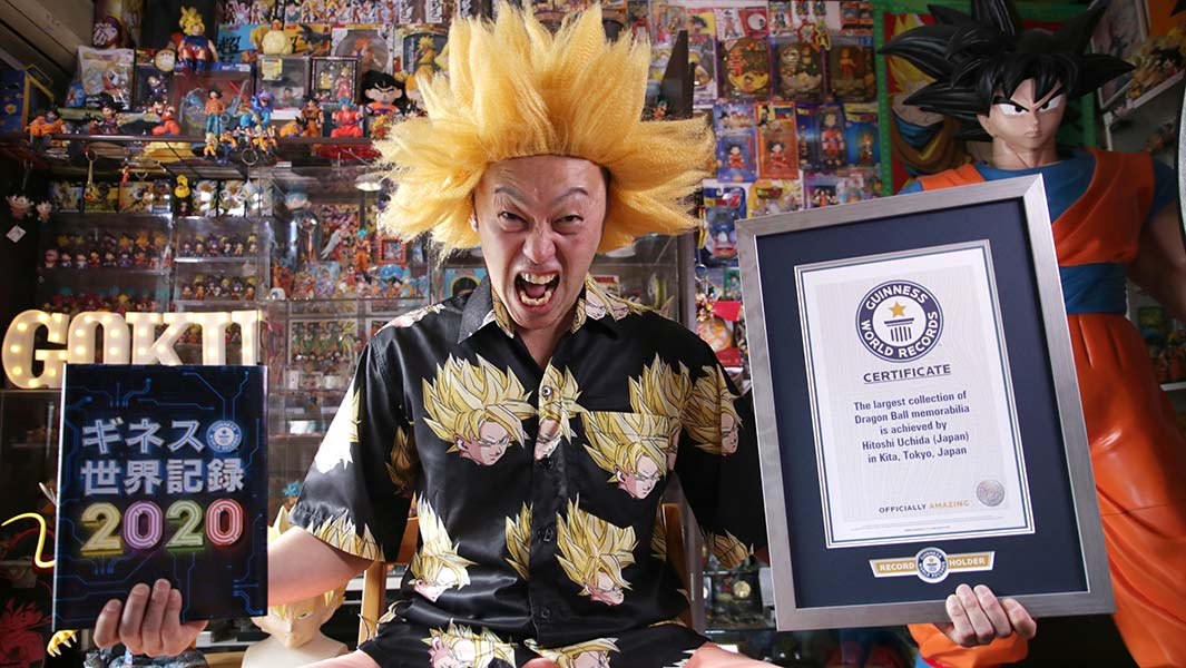 Japanese fan collects over 10,000 Dragon Ball items in a bid to fulfill his lifelong dream