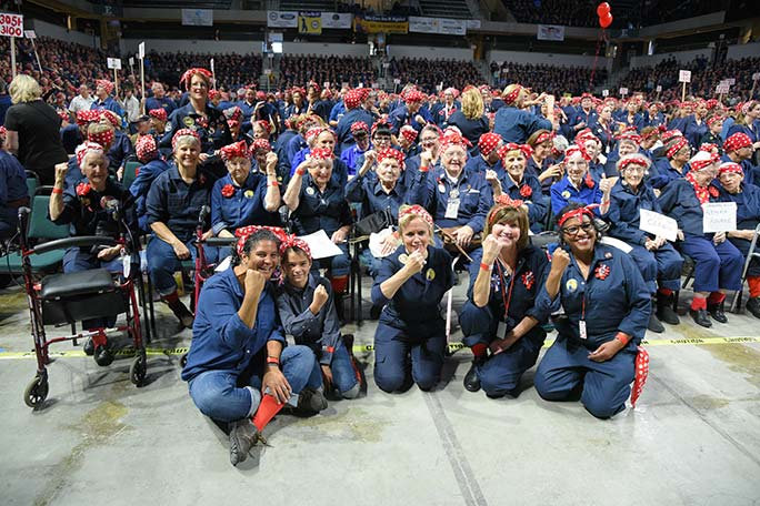 Largest gathering of people dressed as Rosie the Riveter
