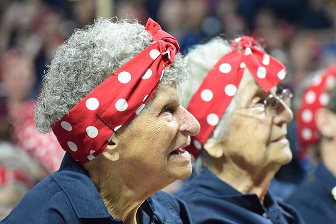 Largest gathering of people dressed as Rosie the Riveter Rosies
