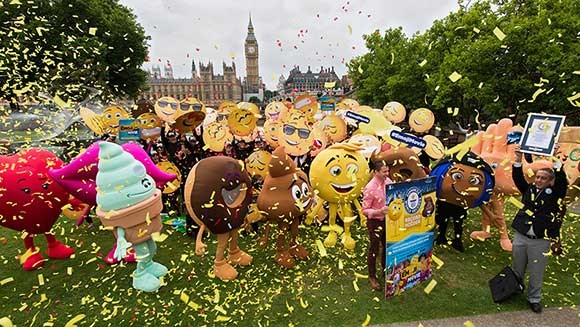 World Emoji Day: 'The Emoji Movie' sets record after hundreds dress up as the popular smileys