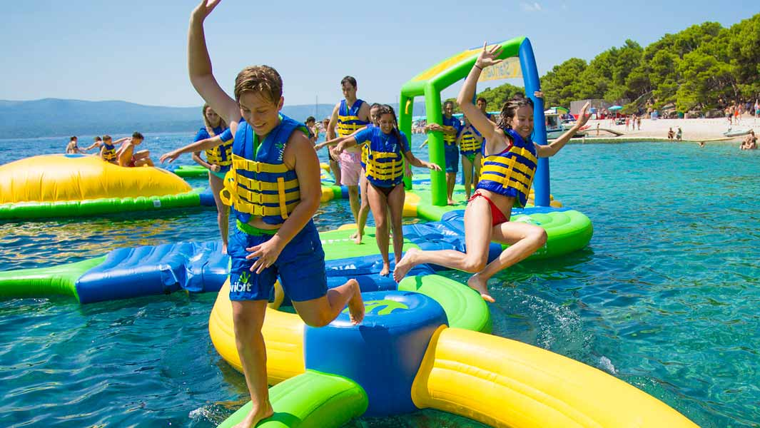 Have a splash at the largest inflatable aqua park in Bali!