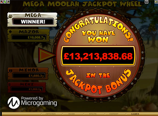 Largest jackpot payout on an online slot machine game screenshot of game