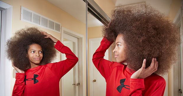 Largest male afro mirror